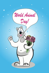 Greeting card with the World Animal Day