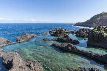 Natural pools of Porto Moniz, Madeira region, Portugal.