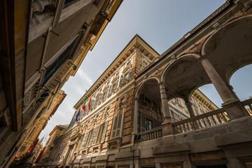 Self adhesive Wall Murals Artistic monument Palazzo Niccolò Grimaldi detto Palazzo Doria-Tursi, il Sistema dei Palazzi dei Rolli, Genova, Liguria, Italia