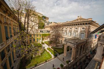 Foto op Textielframe Artistiek mon. Palazzo Niccolò Grimaldi detto Palazzo Doria-Tursi, il Sistema dei Palazzi dei Rolli, Genova, Liguria, Italia
