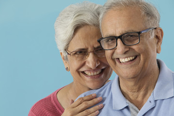 Portrait of senior couple smiling