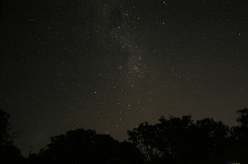Astrophotography showing the night sky with constellations from rural Australia