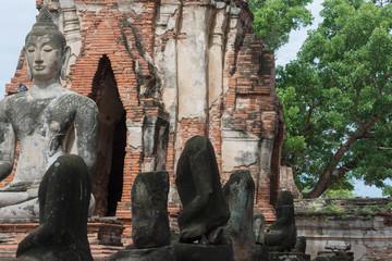 タイ・アユタヤ・遺跡・涅槃像・世界遺産・ワット・プラ・マハタート