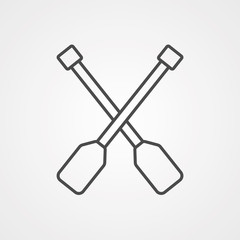 Paddles vector icon