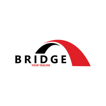 creative abstract bridge logo design template