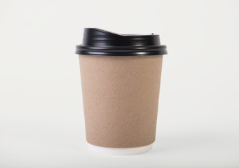 coffee paper cup. mockup for creative design branding.