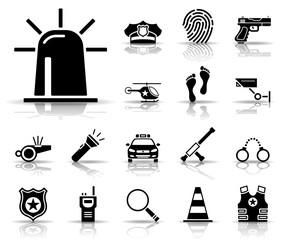 Polizei - Iconset (Schwarz)