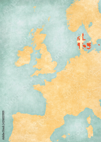 Map Of Western Europe Denmark Stock Photo And Royalty Free Images