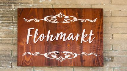Schild 344 - Flohmarkt
