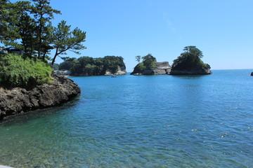 堂ヶ島の美しい海