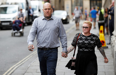 Nightclub bouncer Andrew Cunningham retuns to Bristol Crown Court, in Bristol