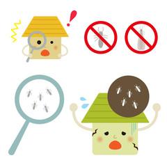 シロアリ と 家 / vector eps 10
