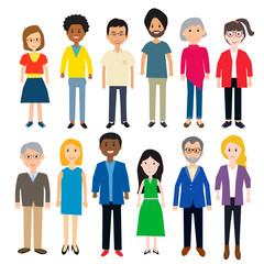 diverse people vector.illustration EPS 10.