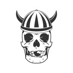 skull viking illustration