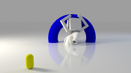 3D Origami Ballerina