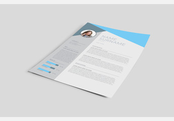 Sheet of Paper Mockup with Editable Layout