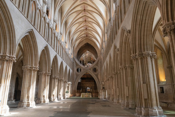 Wells cathedral Nave and scissor arch Wall mural