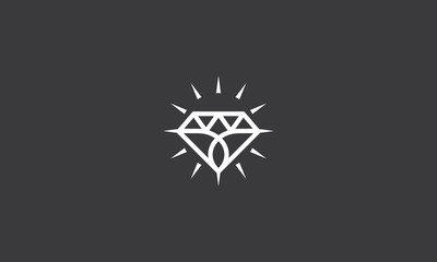 Diamond Shining Jewelry Logo Vector Icon