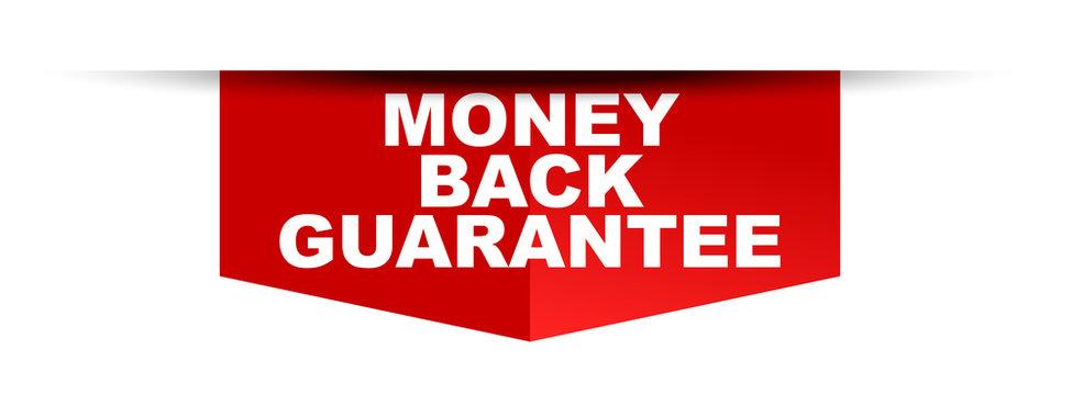 red vector banner money back guarantee