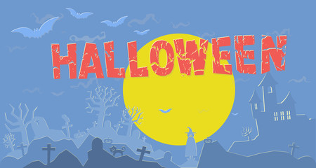 Happy halloween party illustration background. vector format.