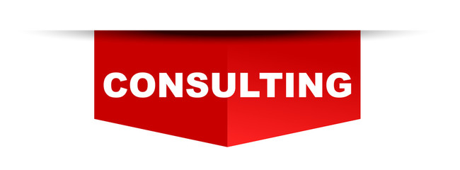 red vector banner consulting