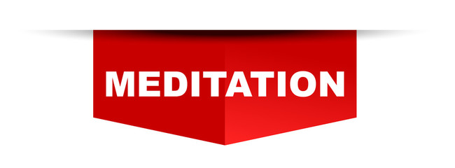 red vector banner meditation
