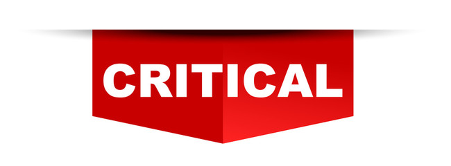 red vector banner critical