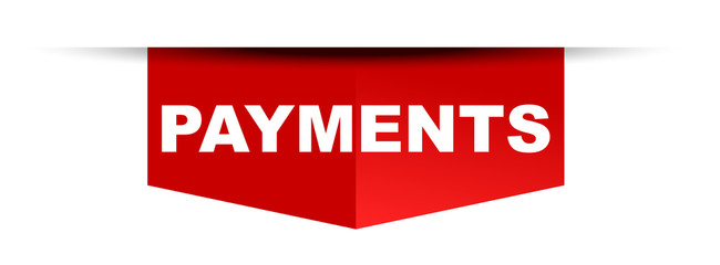 red vector banner payments