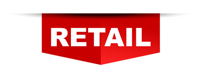 red vector banner retail