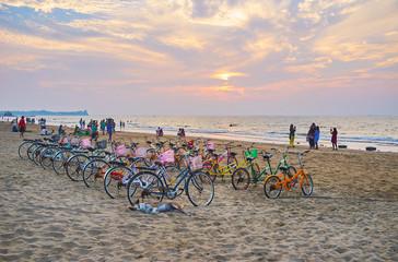 Cycle rental point on Chaung Tha beach, Myanmar