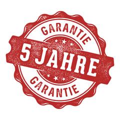 5 Jahre Garantie Vektor Siegel/Stempel