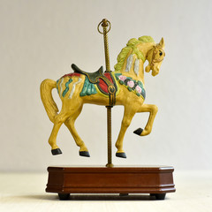 Yellow Horse Carousel Toy