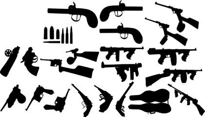 銃火器のシルエット