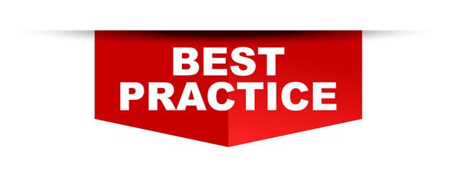 red vector banner best practice