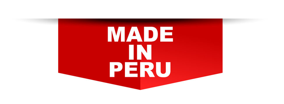 red vector banner made in peru