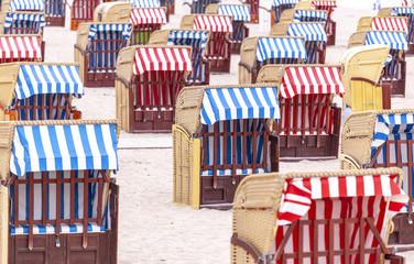 Strandkörbe in Travemünde, Deutschland