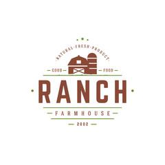 Farmers market logo template vector illustration.