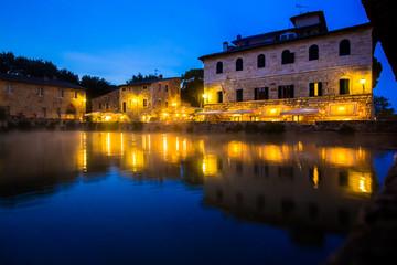 Ancient thermal bath in Bagno Vignoni, Italy