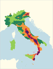 MAPPA SISMICA ITALIA EDITABILE