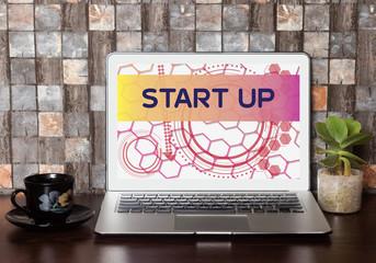 Start Up on Laptop Screen