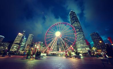 Fototapete - Observation Wheel, Hong Kong