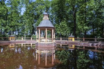 "Bosket ""Menagerie pond""  in the Summer garden. Saint Petersburg, Russia"