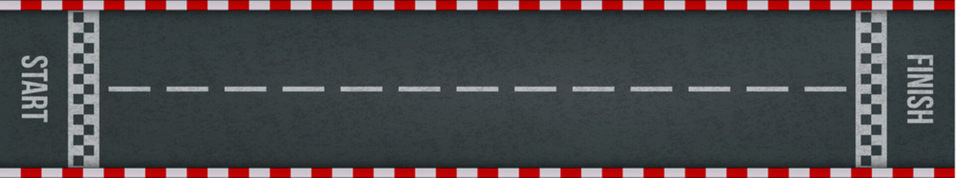 Car racing rally start finish track road marking