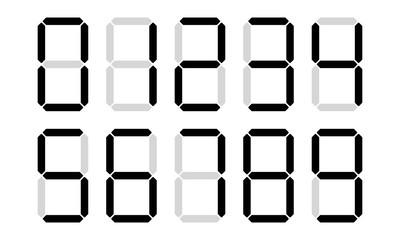 Digital numbers digits vector display