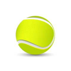 Tennis game green ball illustration