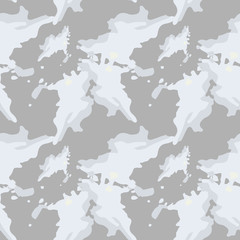 UFO military camouflage seamless pattern in beige and different shades of grey color