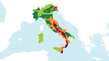 MAPPA SISMICA ITALIA EDITABILE 16-9