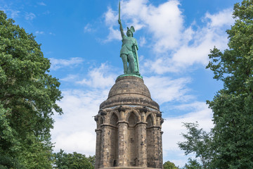 Hermann Monument in the Teutoburg Forest in Germany.