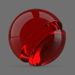 Clear red plastic
