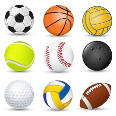 Sport game balls collection